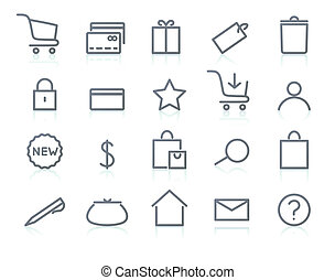 icon set - illustration of original e-commerce Icon Set,...