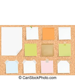 Cork Board With Notes - Cork Notice Board With Blank...