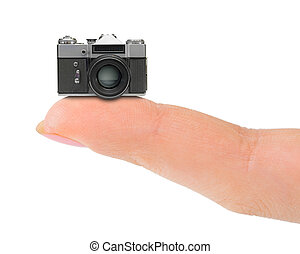 Finger and camera