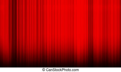 Waving red curtain - Animation of a waving red theatre...