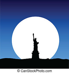 statue of liberty on the moon