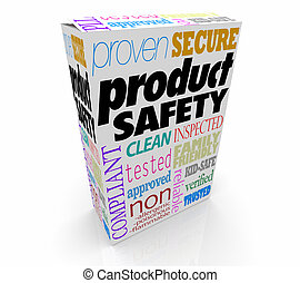 Product Safety Box Package Tested Compliant 3d Illustration