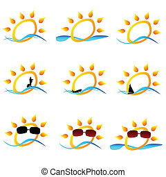 sun illustration for logo