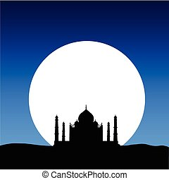 taj mahal on the moon