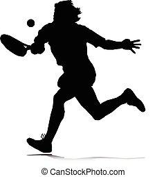 tennis man vector illustration