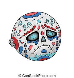 Emoji Cry Dead. Dia de Los Muertos Day of The Dead - Emoji...