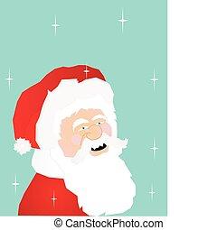Santa smiling