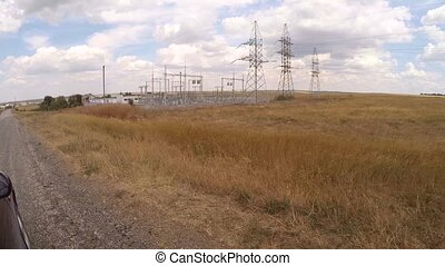 electrical distribution substation - view from a passing...