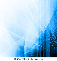 Abstract of Blue Light Rays - Streams of light abstract Cool...