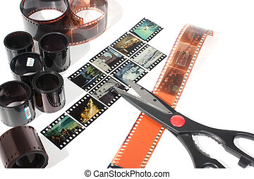 video editing of negative and positive film
