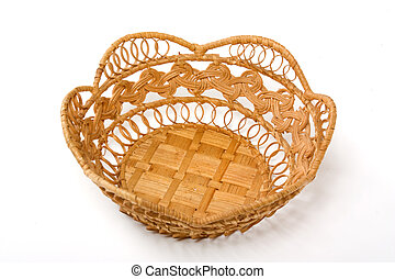 empty basket isolated on a white background