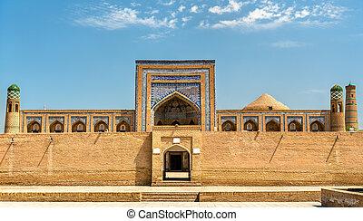 Mohammed Rahim Khan Medresa at Itchan Kala, the old town of...