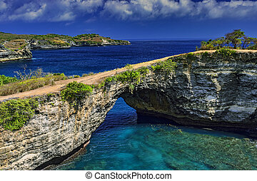 Angels Billabong from Nusa Penida - View of Angels Billabong...