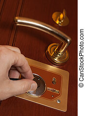 Diagnosis door lock with a stethoscope