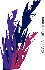 Colorful gladiolus. Vector pattern on white background