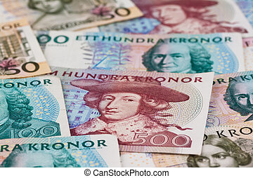 Swedish crowns. Swedish currency - Swedish krona, the...
