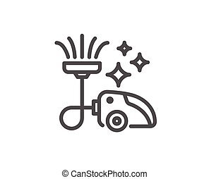 Vacuum cleaner line icon. Cleaning service. - Vacuum cleaner...