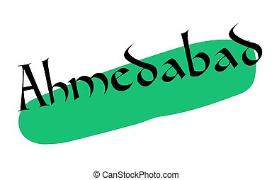 AHMEDABAD sticker stamp - AHMEDABAD sticker. Authentic...