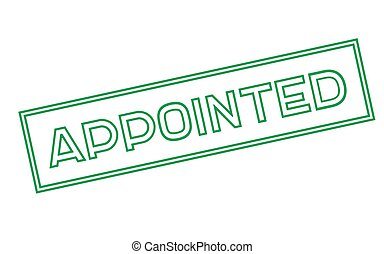 APPOINTED sticker stamp - APPOINTED sticker. Authentic...