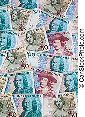 Swedish crowns. Swedish currency - Swedish krona, the...