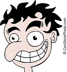 funny ugly face draw - Creative design of funny ugly face...