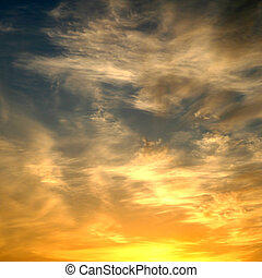 sunset sky nature background