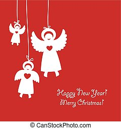 congratulation-is-christmas-angels - a template of christmas...