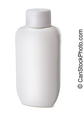 Plastic bottle - White plastic cosmetics or medical bottle...