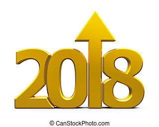 2018 icon compact gold with arrow - Gold 2018 with arrow up...