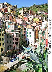 Italy. Cinque Terre. Riomaggiore village - Italy. Cinque...