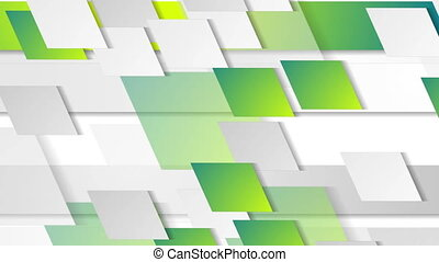 Bright green geometric tech abstract video animation -...