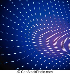 Bright shiny neon lines background with force field - Bright...