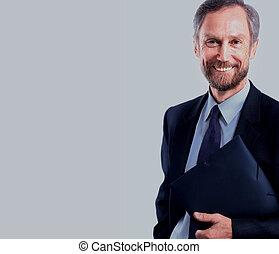 Portrait of a mature business man - Portrait of a happy...