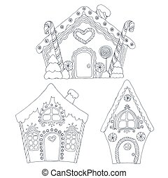 Christmas coloring pages - Christmas coloring vector pages...