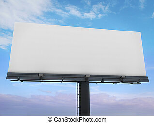Blank billboard - 3d blank billboard ready to fill with a...