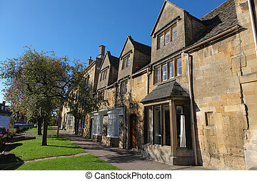 Chipping Campden - Lane in the typical Cotswold village of...