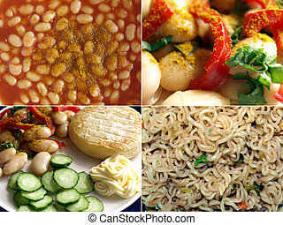 British food - Collage of traditional Indian British...