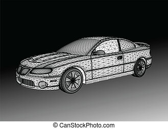 Car is designed. Vector