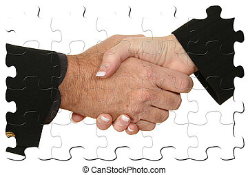 Male Female Handshake Puzzle - Male and female hands in...