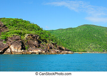 Queensland Coastline - The pristine coastline near Port...