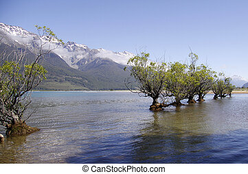 lake wakatipu glenorchy new zealand - image of lake wakatipu...