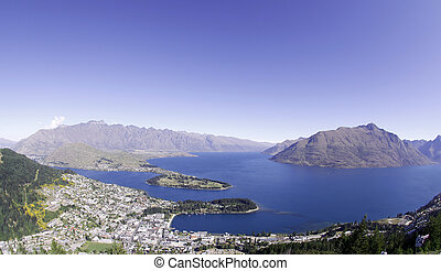 lake wakatipu and queenstown - image of lake wakatipu and...