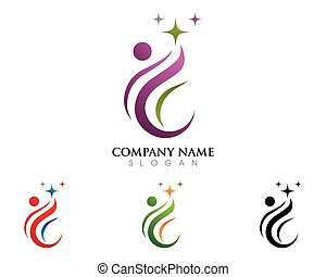 Healthy Life Logo - Human character logo sign Health care...