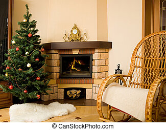 Waiting for Christmas - Photo of interior of room prepared...