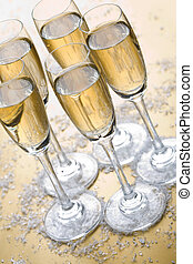 Bubbly champagne