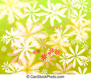 Colorful flower background - Abstract colorful flower...