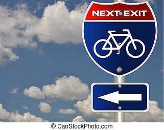 Bike road sign