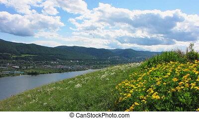 Nature - landscape 10 - Summer landscape with river.