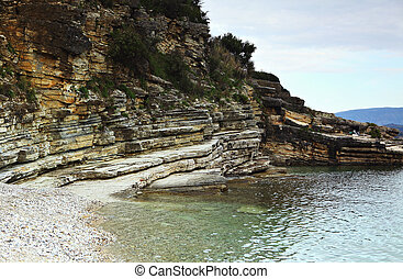 Sedimentary geology - Limestones unconformably overlaid by...