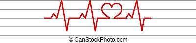 corazón, forma, electrocardiograma